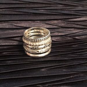 🌟RARE🌟SILPADA Sterling Set of 5 Stackable Rings